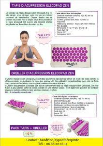acupression - tapis et oreiller